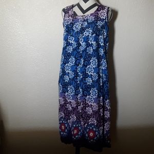 Easy Living XL Vintage Rayon Dress Women